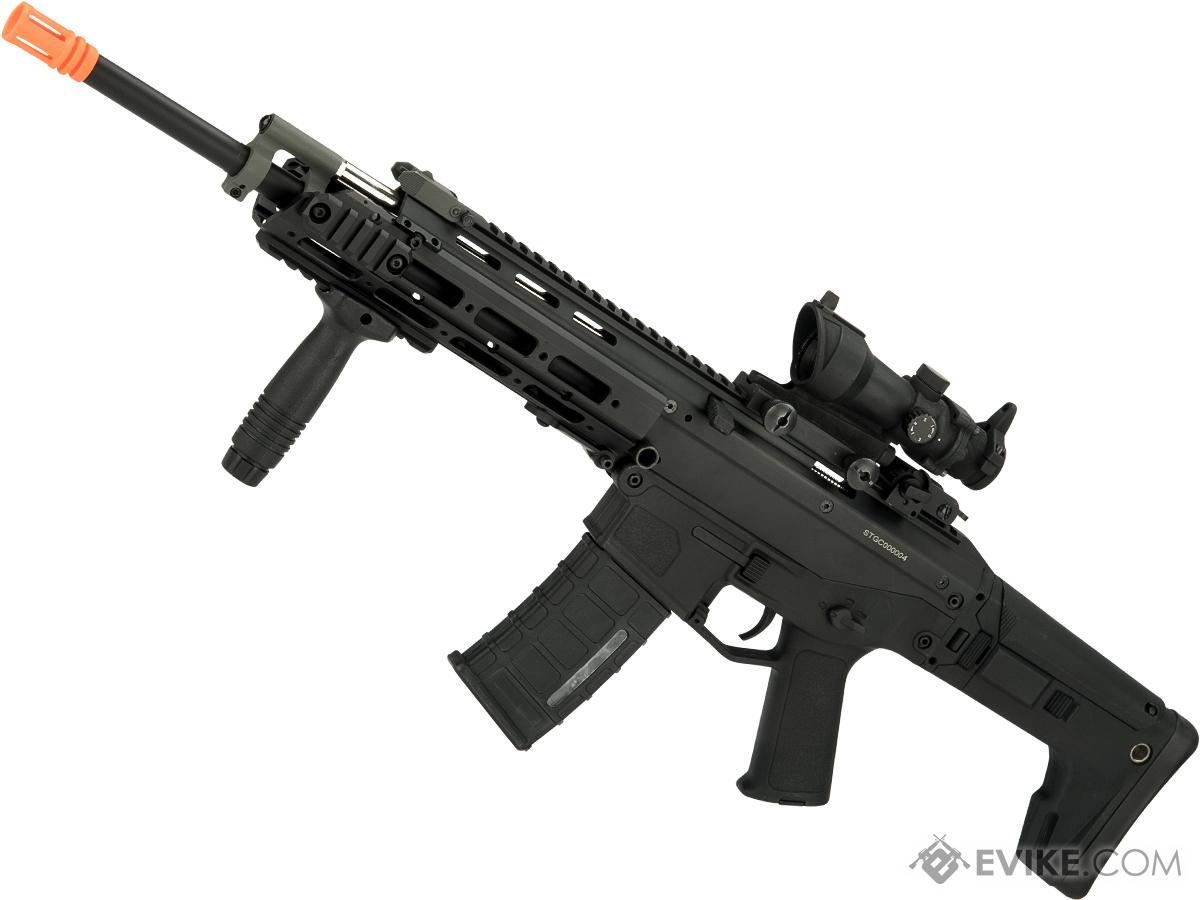 A&K Adaptive Combat Rifle Airsoft AEG Rifle (Color: Black / Full Size RIS)