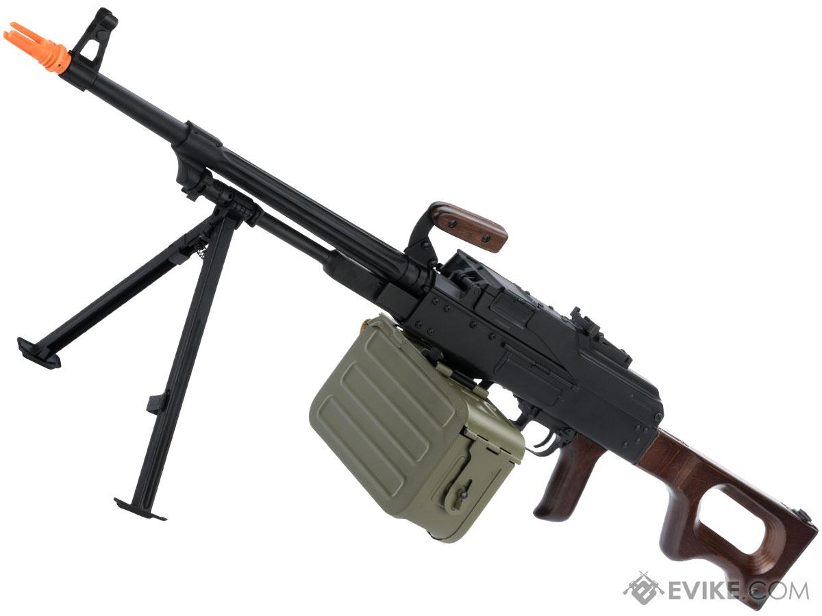 A&K PKM PK Squad Automatic Weapon Airsoft Machine Gun (Furniture: Real Wood)