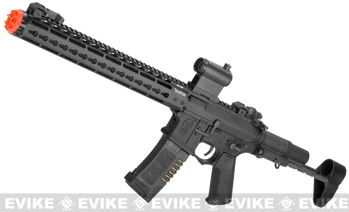 ARES Amoeba 13.5 M4 Airsoft AEG with Octarms 13.5 Keymod Handguard (Color: Black)