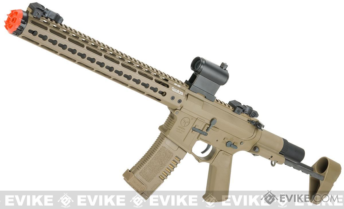 ARES Amoeba 13.5 M4 Airsoft AEG with Octa²rms 13.5 Keymod Handguard (Color: Dark Earth)