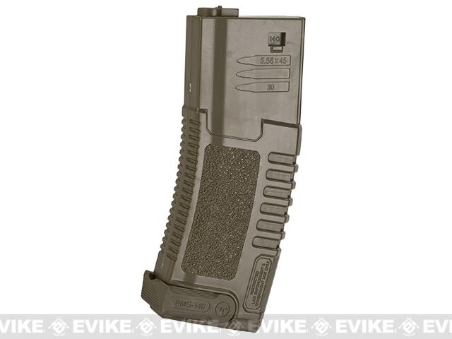 ARES Amoeba 140rd High Grade Mid-Cap Magazine for M4/M16 Series Airsoft AEG Rifles (Color: Dark Earth / Single Magazine)