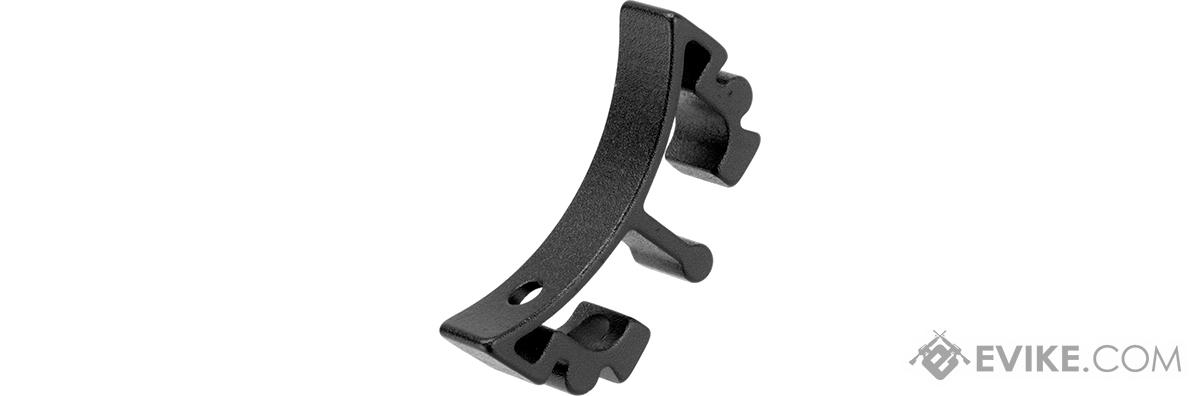 Airsoft Masterpiece Aluminum Puzzle Trigger - Curved Long (Color: Black)