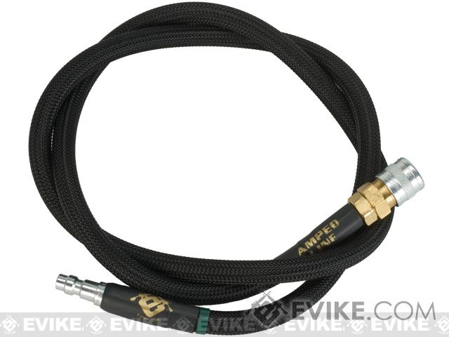 Amped Airsoft 36in. Standard Braided Hose for HPA Systems with Quick Detach Fittings - Black