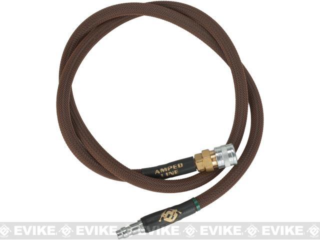 Amped Airsoft 36in. Standard Braided Hose for HPA Systems with Quick Detach Fittings - Brown