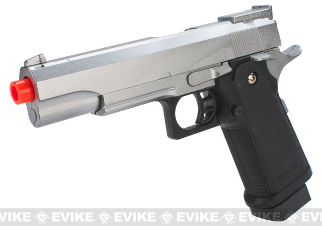 Galaxy G6 Full Metal Slide 1911 Hi-CAPA Full Size Airsoft Spring Pistol (Color: Silver)