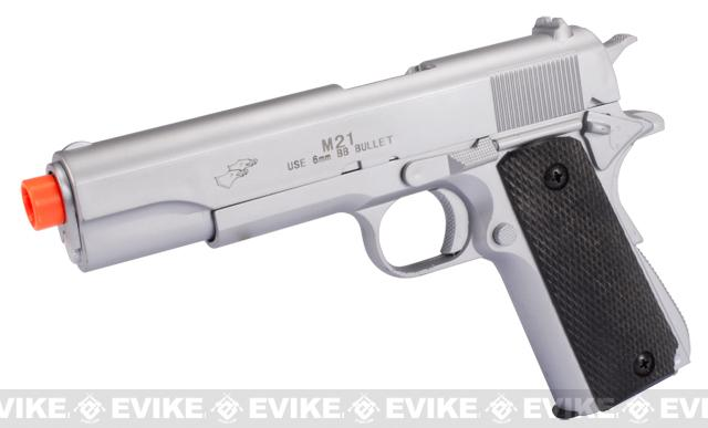 DE Full Size 1911 Government High Power Airsoft Spring Pistol (Color: Silver)