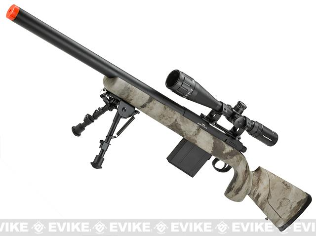 z APS M50 Shell Ejecting Co2 Powered Airsoft Gas Sniper Rifle 500~590 FPS (Model: ATACS AU)