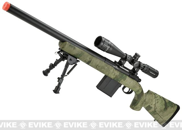 z APS M50 Shell Ejecting Co2 Powered Airsoft Gas Sniper Rifle 500~590 FPS (Model: ATACS FG)