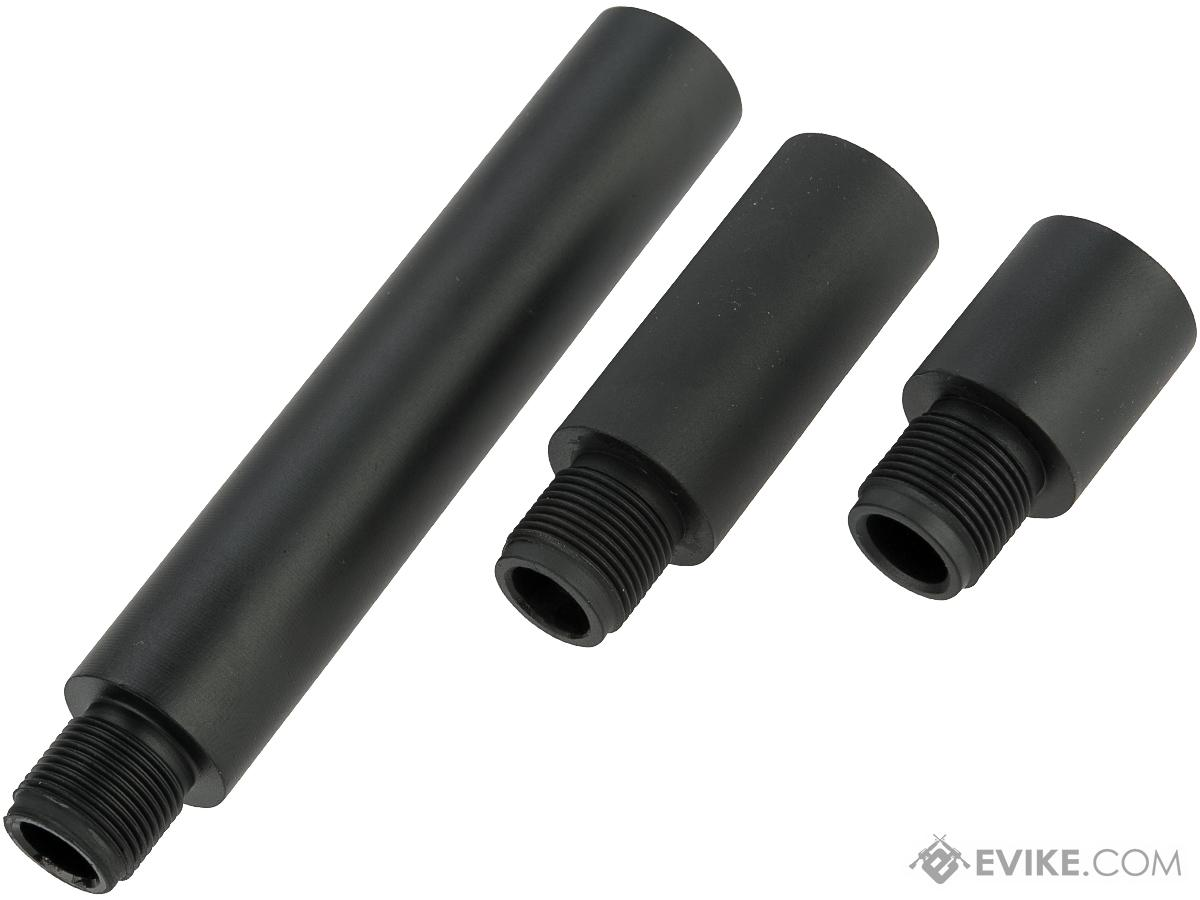 APS M4 CQB-R Convertible Barrel Adapter / Extension Set (Thread: 14mm-= Negative)