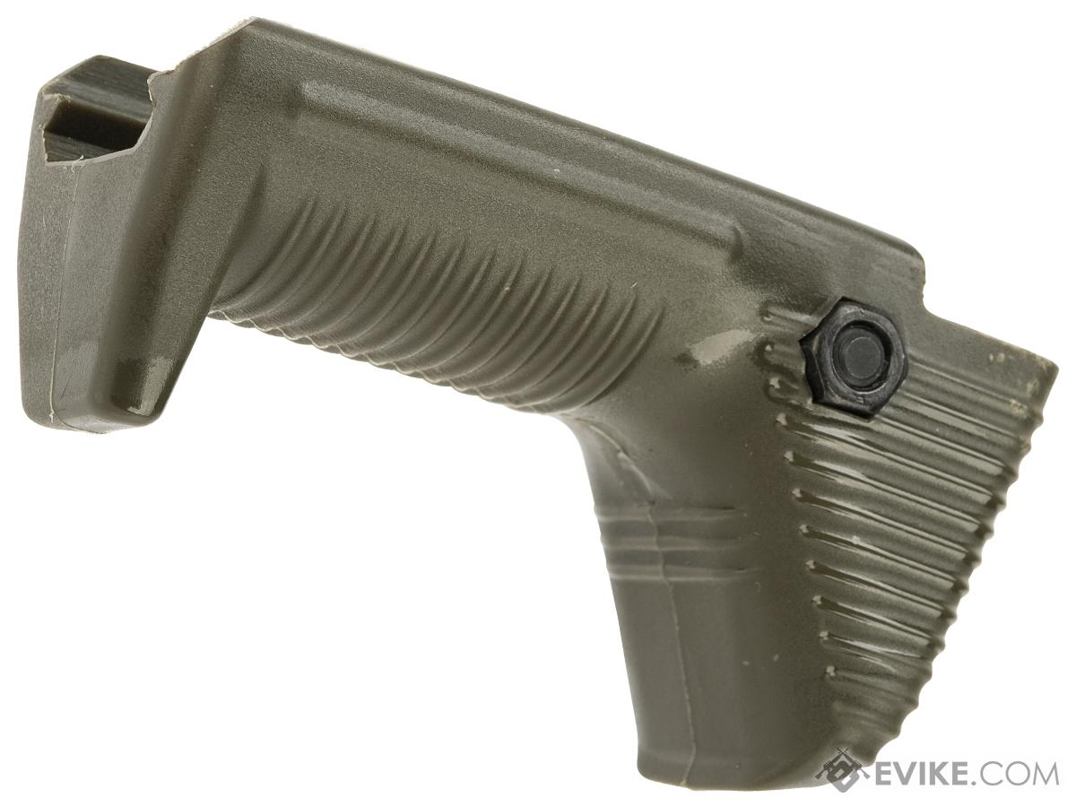 APS Dynamic Hand Stop Polymer Angled Airsoft Foregrip (Color: OD Green)