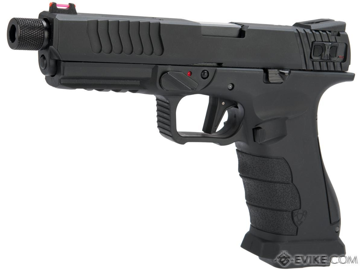 Pre-Order ETA December 2019 APS XTP Shark Full Automatic Select-Fire Full Metal Co2 Gas Blowback Airsoft Pistol (Color: Black / Standard)
