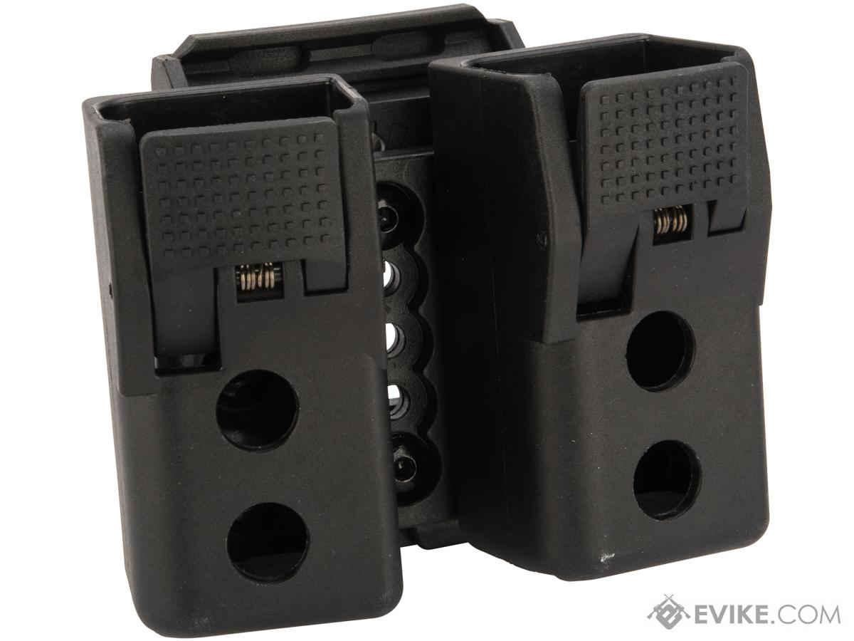 Quantum Mechanics Locking Double Stack 9mm / .40 Magazine Carrier (Model: Double Magazine / Glock Magazines)