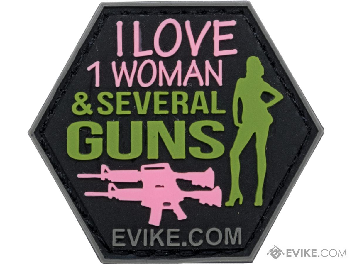 Operator Profile PVC Hex Patch Catchphrase Series (Style: Love Women / Guns)