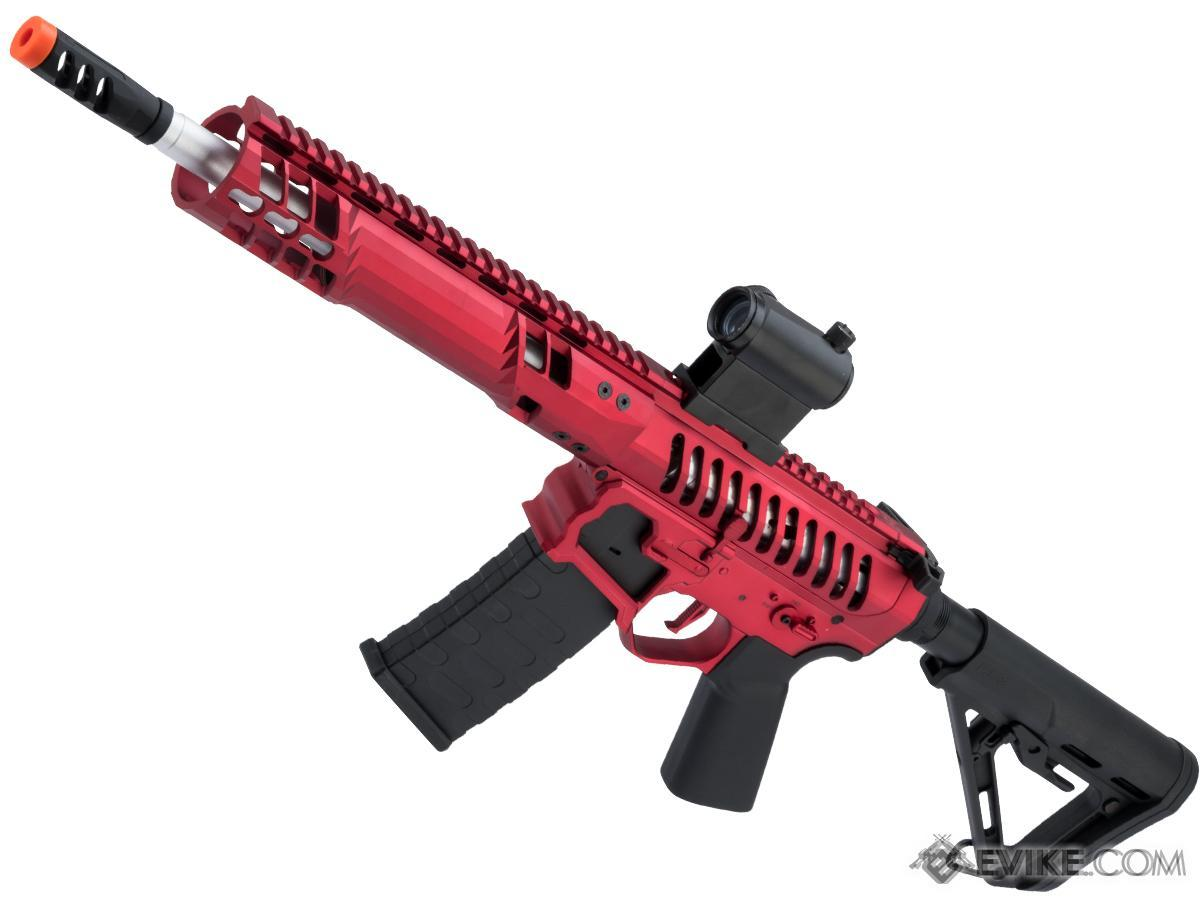 EMG F-1 Firearms SBR Airsoft AEG Training Rifle w/ eSE Electronic Trigger (Model: Red / RS-3 / 350 FPS)