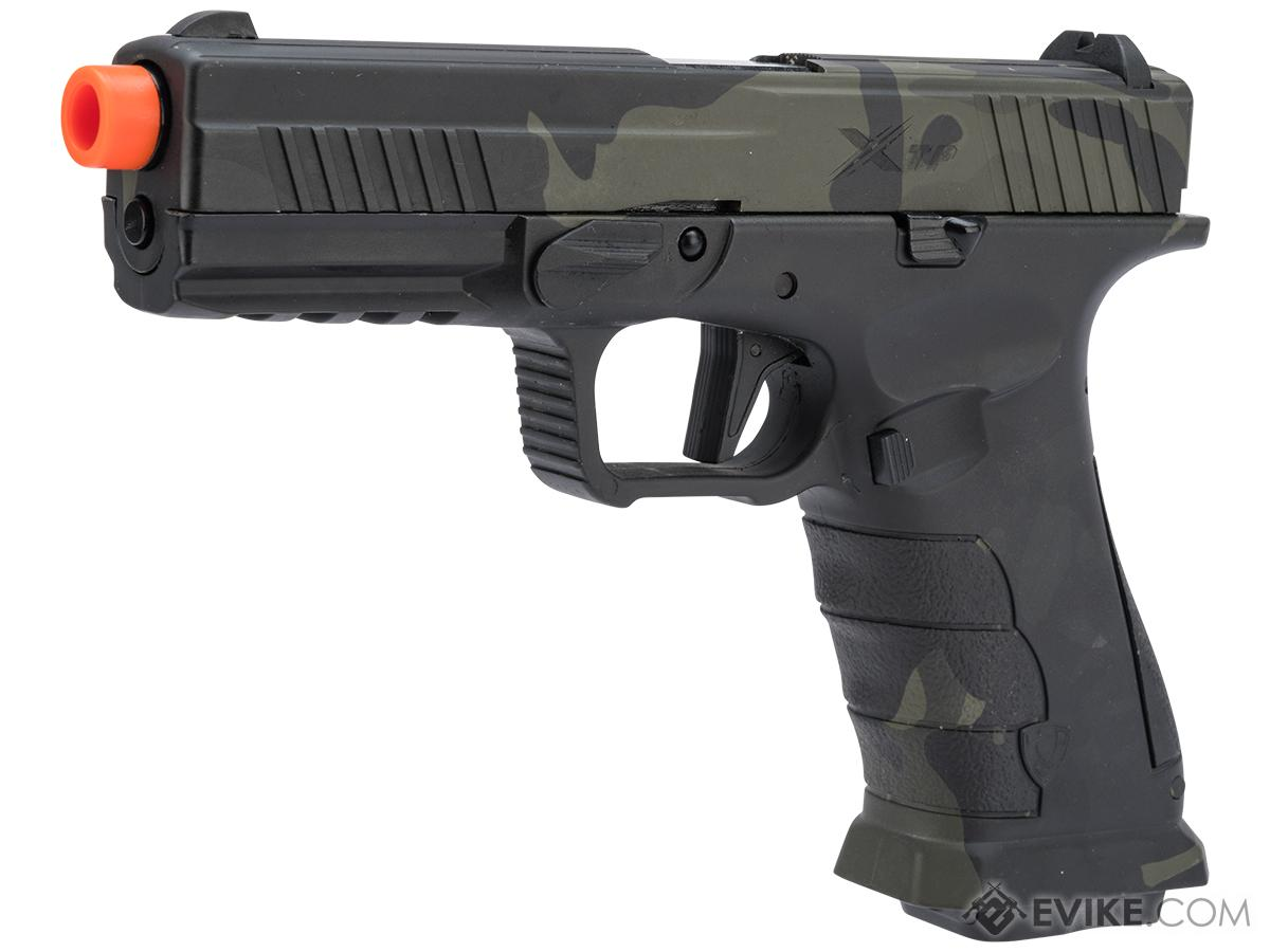 APS XTP Gas Blowback Airsoft Pistol (Color: Multicam Black / CO2)