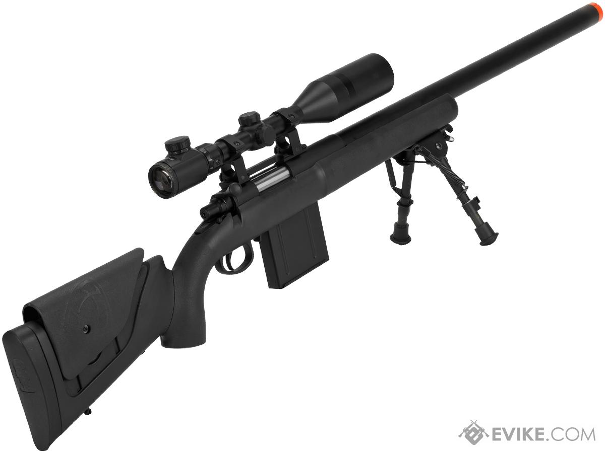 APS M40A3 Bolt Action Airsoft Sniper Rifle 550 FPS Version (Color: Black / 550 FPS Rifle Only ...