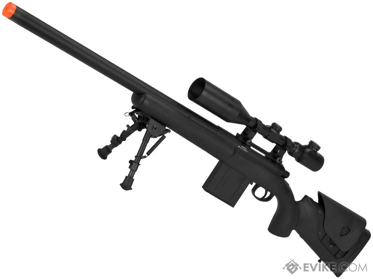 APS M40A3 Bolt Action Airsoft Sniper Rifle 550 FPS Version (Color: Black / 550 FPS Rifle Only)