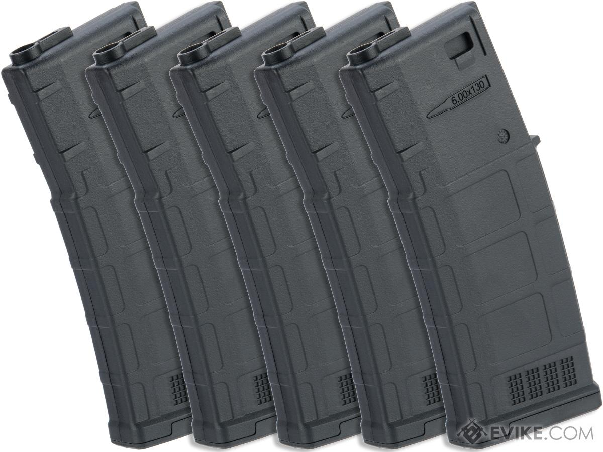 ARES AMAG 130rd Magazine M4 / M16 Mid Cap Magazine for AEG Rifles (Color: Black / 5 Pack)