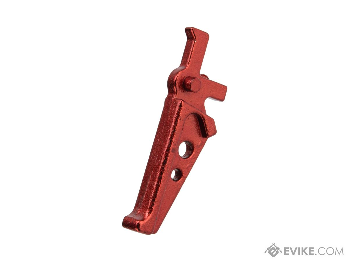ARES Replacement Flat Faced Competition Style Trigger for M4 / M16 Series AEGs (Color: Red)