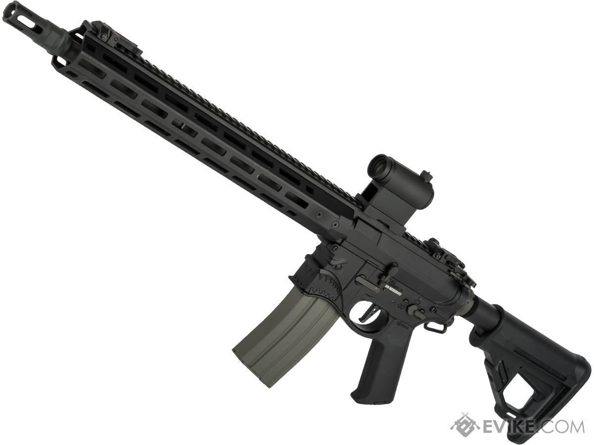 EMG / Sharps Bros Hellbreaker II Licensed Advanced M4 Airsoft AEG Rifle with Super High Torque Slim Motor Grip (Color: Black / 15 Carbine)