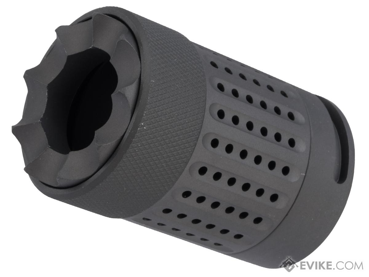 ARES QD Blast Shield Flash Hider for Airsoft AEGs (Model: Type D)