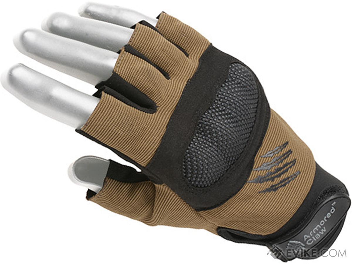 Armored Claw Shield Cut Tactical Glove (Color: Half Tan / Small)