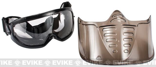 GxG Airsoft Paintball Wide Vision Goggle + Faceshield