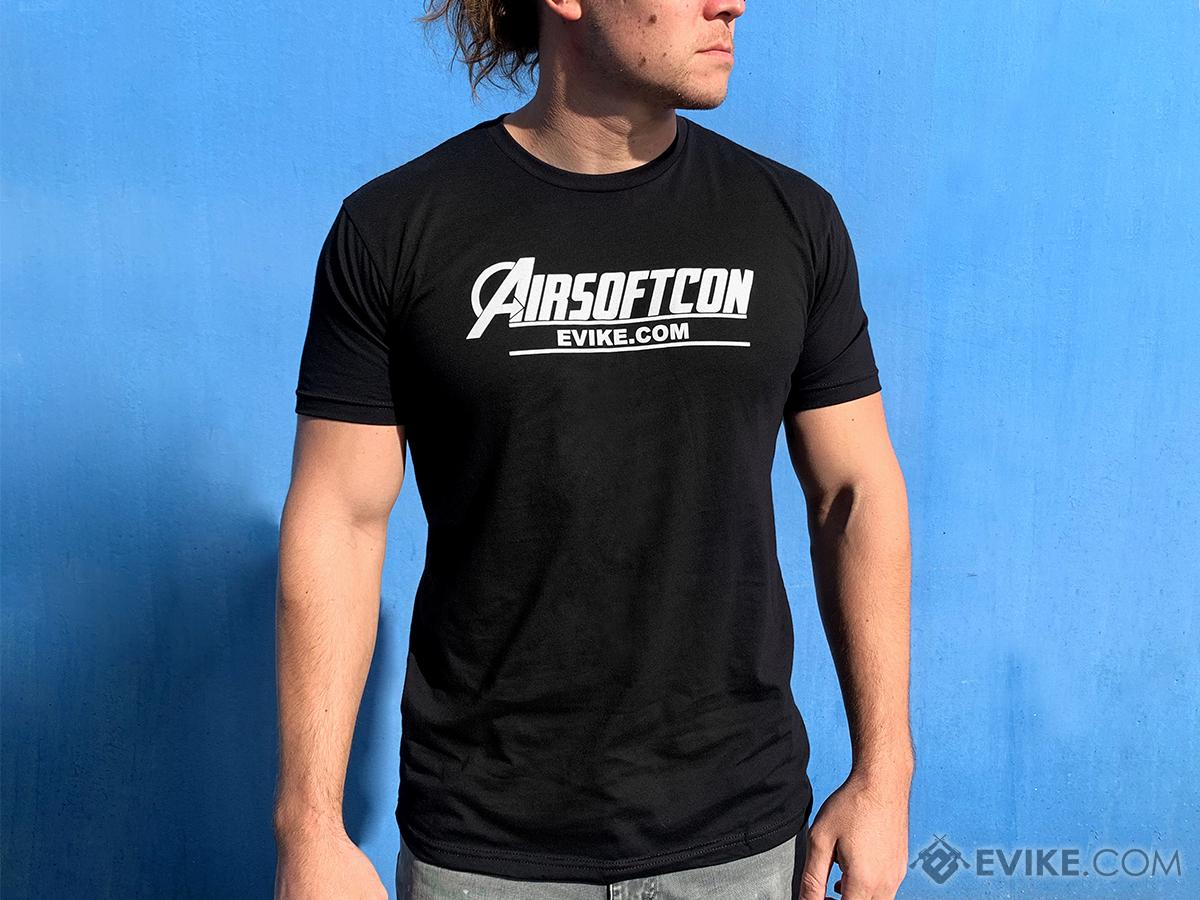 Evike.com AirsoftCON 2019 Graphic Tee (Size: Black / X-Small)