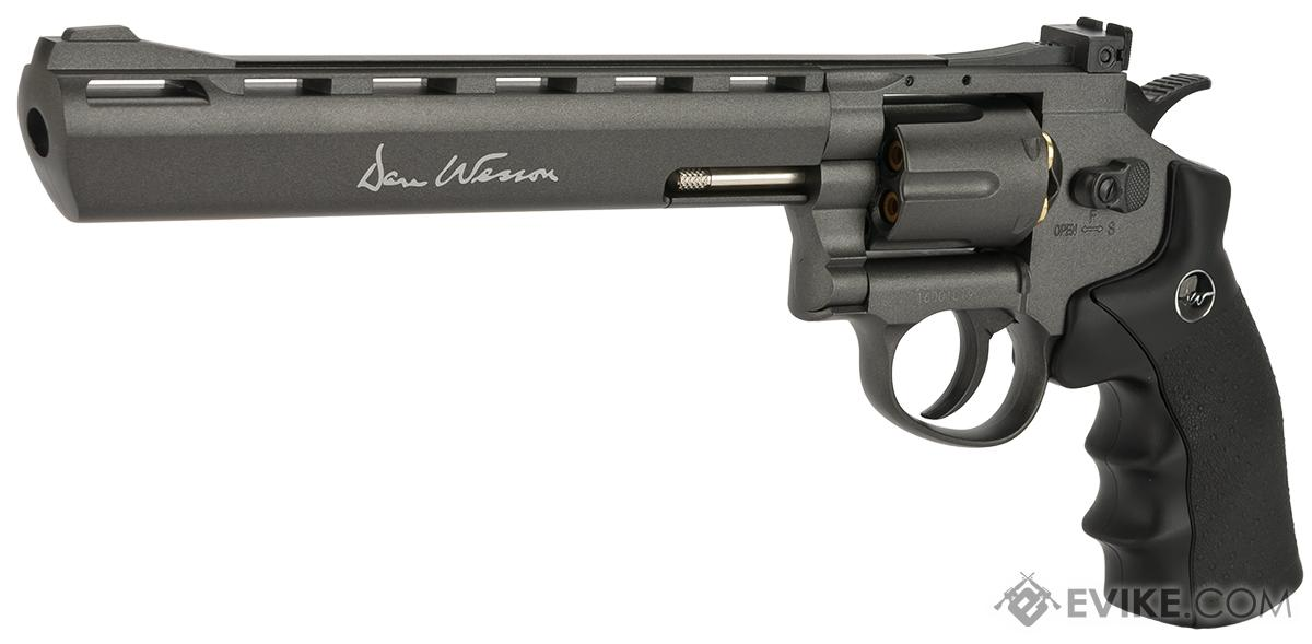 Dan Wesson CO2 Powered 4.5mm BB Revolver with 8 Barrel- Grey (4.5mm AIRGUN NOT AIRSOFT)