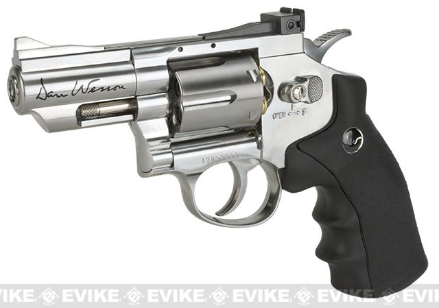 ASG Dan Wesson CO2 Full Metal 4.5mm Gas Airgun Revolver with 2.5 Barrel- Silver (4.5mm AIRGUN NOT AIRSOFT)