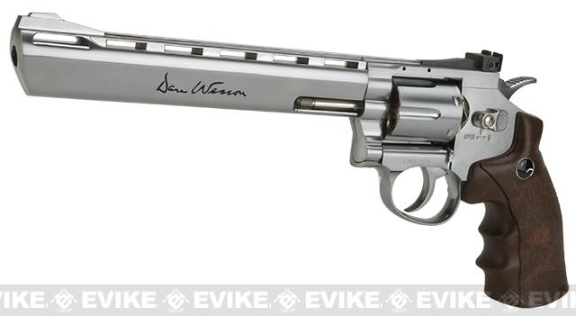 Dan Wesson CO2 Powered 4.5mm BB Revolver with 8 Revolver - Silver (4.5mm AIRGUN NOT AIRSOFT)
