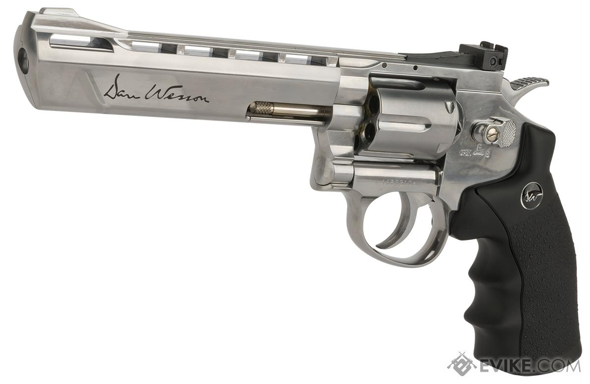 Dan Wesson CO2 Powered 4.5mm BB Revolver with 6 Revolver - Silver (4.5mm AIRGUN NOT AIRSOFT)
