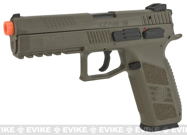 Pre-Order ETA August 2021 ASG CZ P-09 Sportsline Licensed Airsoft GBB Gas Blowback Pistol (Color: Dark Earth)