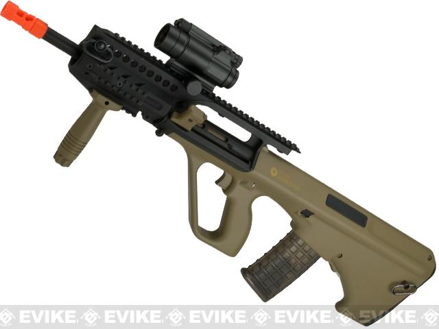 Evike.com Exclusive ASG Steyr Licensed AUG A3 Metal Gearbox Airsoft AEG Rifle (Color: Tan)