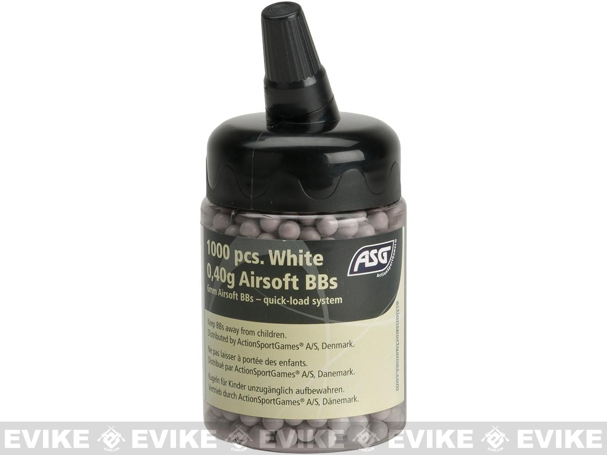 Precision .40 6mm Airsoft BBs by ASG - White (1000 rounds)