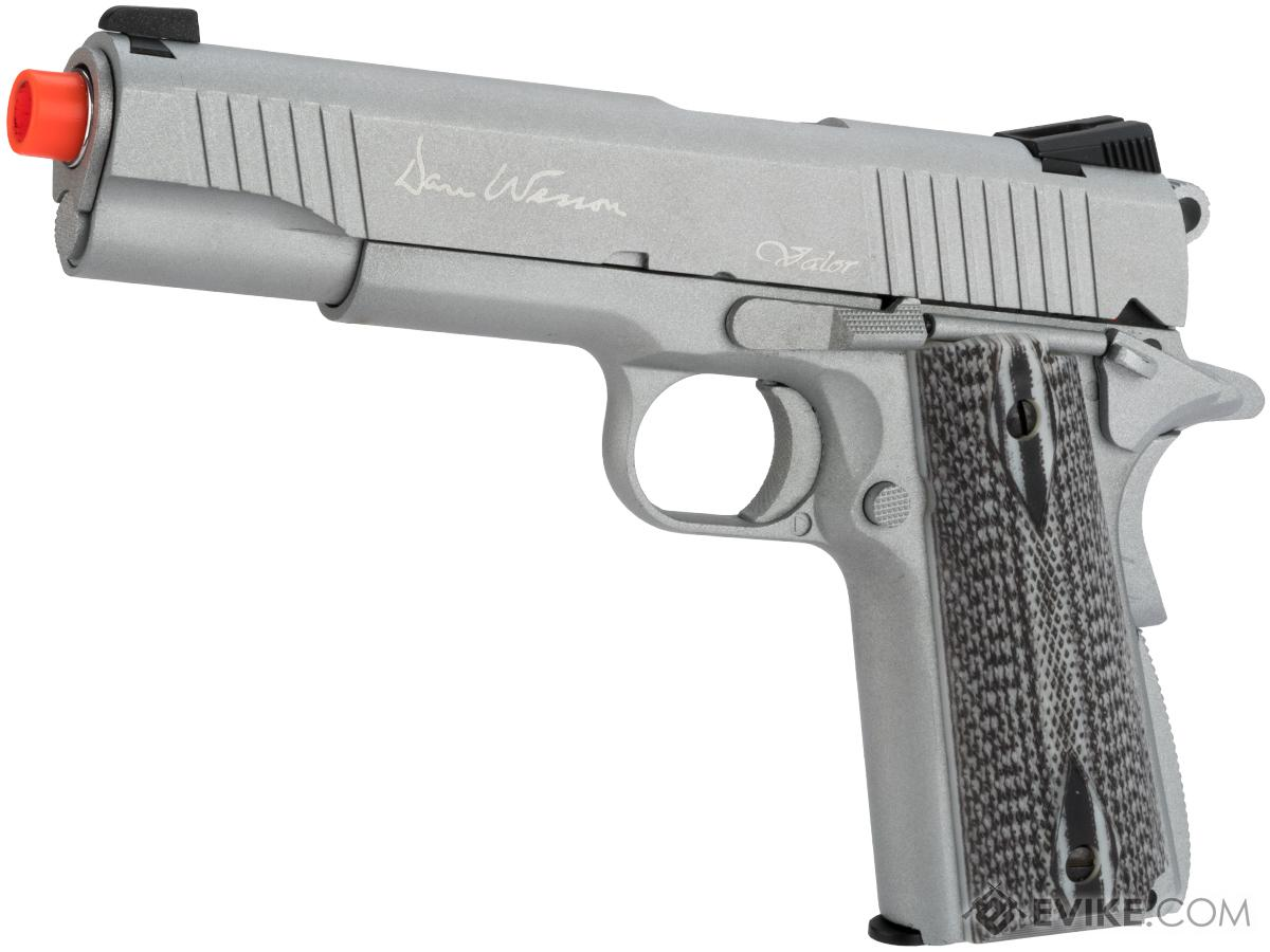 Pre-Order ETA June 2021 Dan Wesson Licensed Full Metal 1911 Evike Exclusive VALOR Custom CO2 Powered Airsoft Gas Blowback Pistol (Color: Silver)