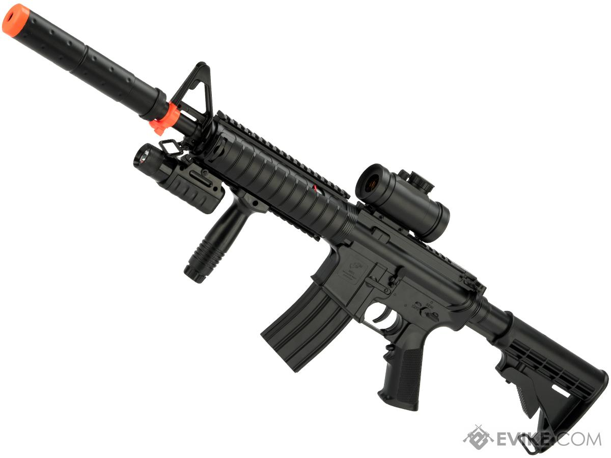 DE M83A2 Full Size M4 RIS Carbine Airsoft Low Power Airsoft AEG Electric Rifle Package