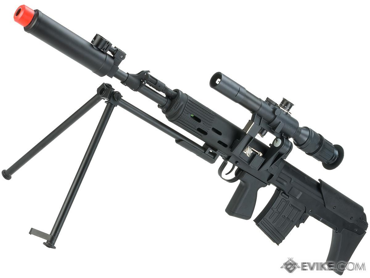 ASP / 6mmProShop OTs-03 SVU Airsoft Bullpup Sniper Rifle AEG with Integrated Bipod