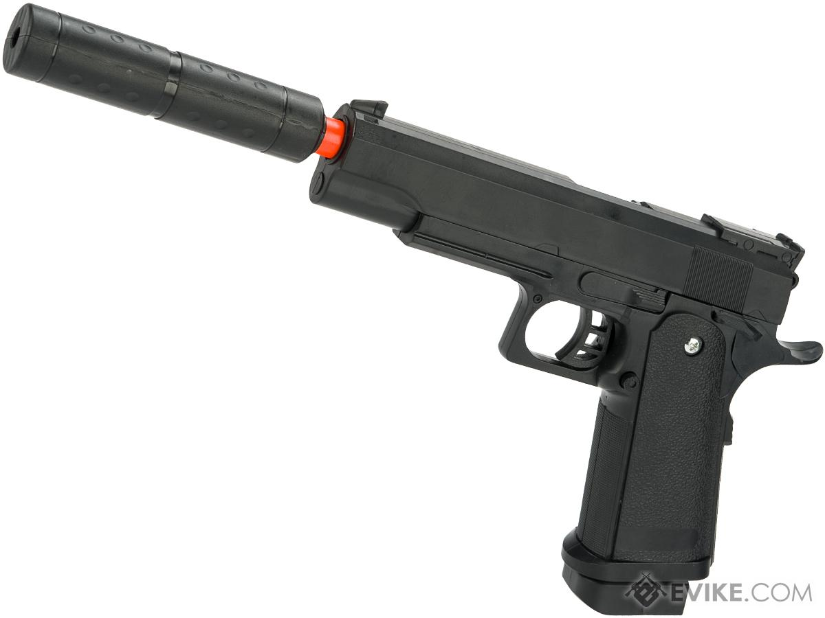 JG Polymer Single Shot Airsoft Spring Gun Armory Series (Model: Hi-CAPA Pistol with Barrel Extension)
