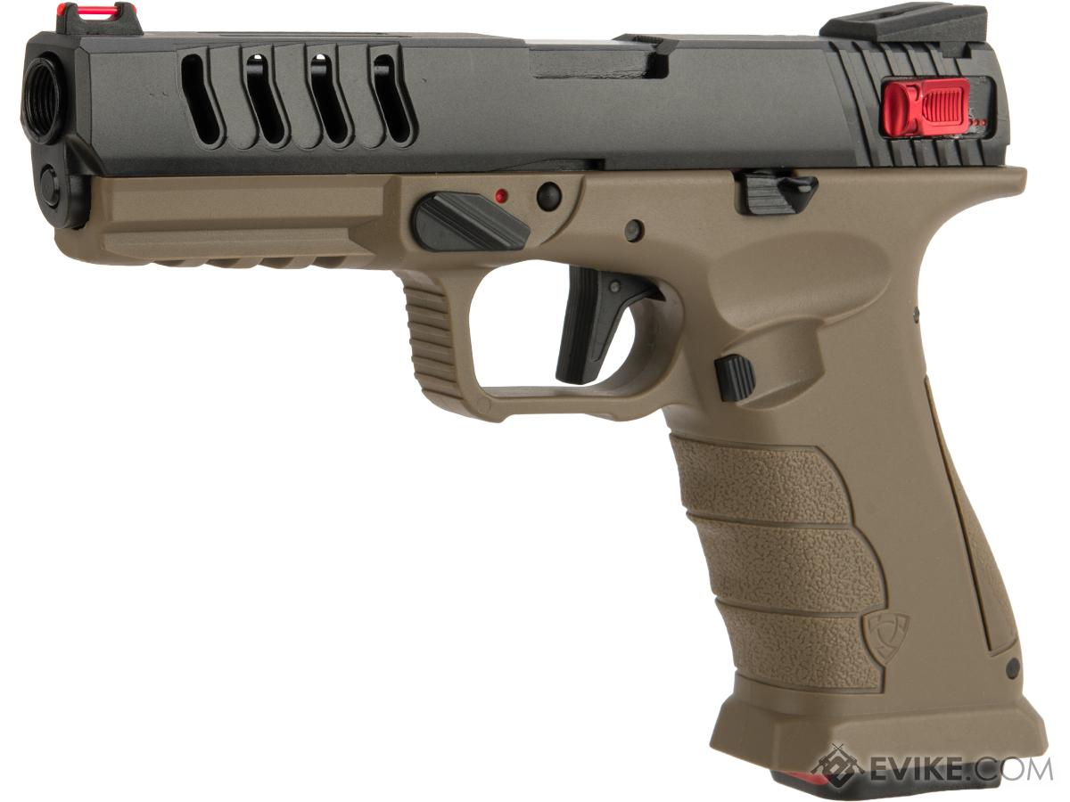 APS Shark Full Automatic Select-Fire CO2 Gas Blowback .177 / 4.5mm Air Pistol (Color: Desert)