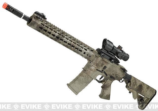 APS ASR115 Full Metal 12.5 M4 AR15 Airsoft AEG EBB Rifle w/ Silver Edge Gearbox (Color: A-TACS)