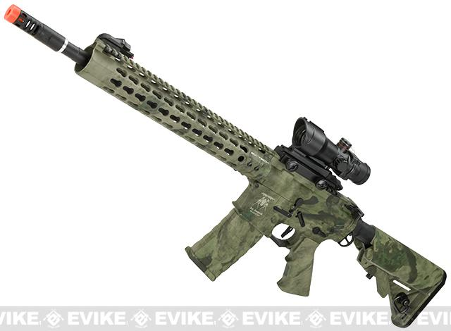 z APS ASR115 Full Metal 12.5 M4 AR15 Airsoft AEG EBB Rifle w/ Silver Edge Gearbox (Color: A-TACS Foliage)