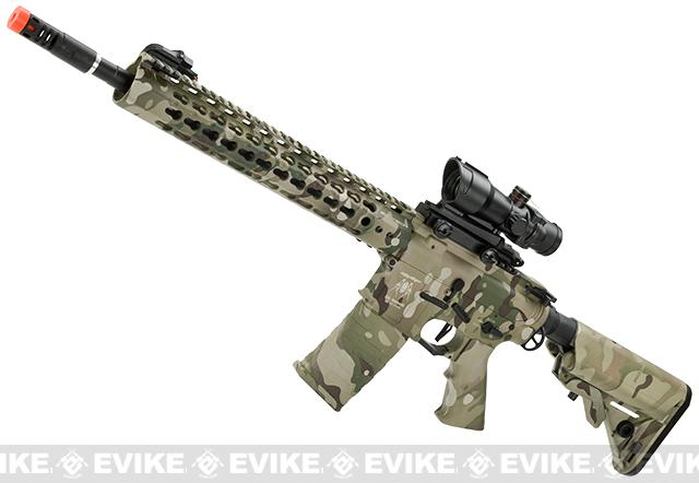 APS ASR115 Full Metal 12.5 M4 AR15 Airsoft AEG EBB Rifle w/ Silver Edge Gearbox (Color: Mulitcam)