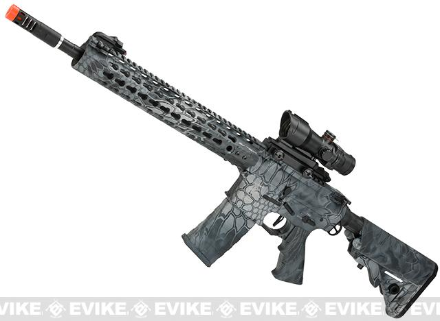 APS ASR115 Full Metal 12.5 M4 AR15 Airsoft AEG EBB Rifle w/ Silver Edge Gearbox (Color: Kryptek Typhon)
