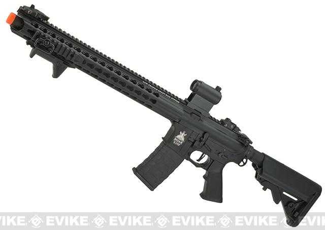 APS ASR-117 Boar Tactical Silver Edge 17 KeyMod Airsoft AEG (Color: Black)