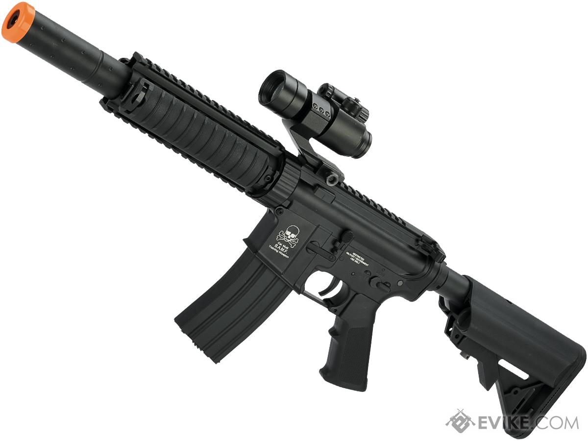 Avengers Full Metal M4 CQB-SD RIS Airsoft AEG w/ Crane Stock (Model: Black)