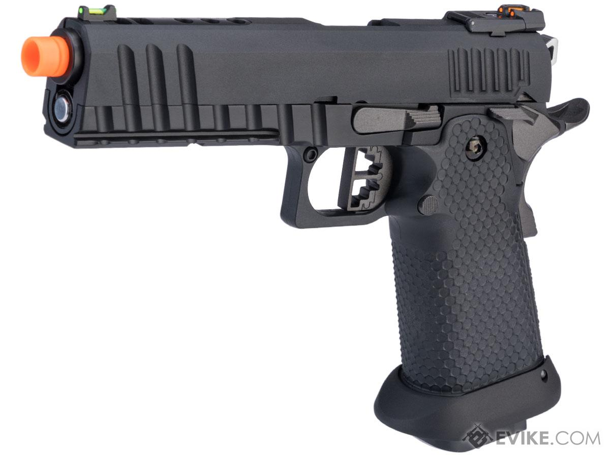 AW Custom Full Auto Ace Competitor Hi-CAPA Gas Blowback Airsoft Pistol (Package: Black / Gun Only / Green Gas)