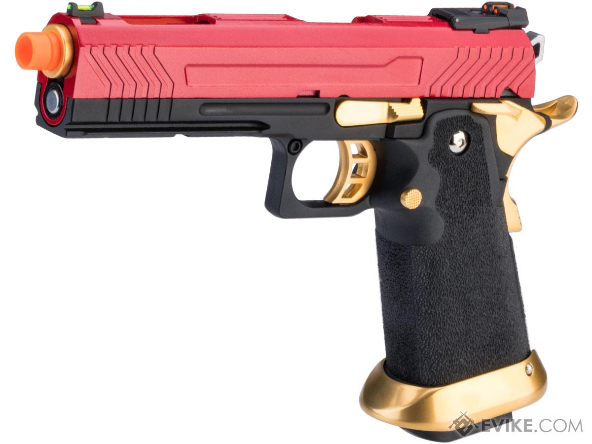 AW Custom HX11 Hi-Capa Competition Grade Full Auto Select Fire GBB Pistol (Color: Red / Gold)