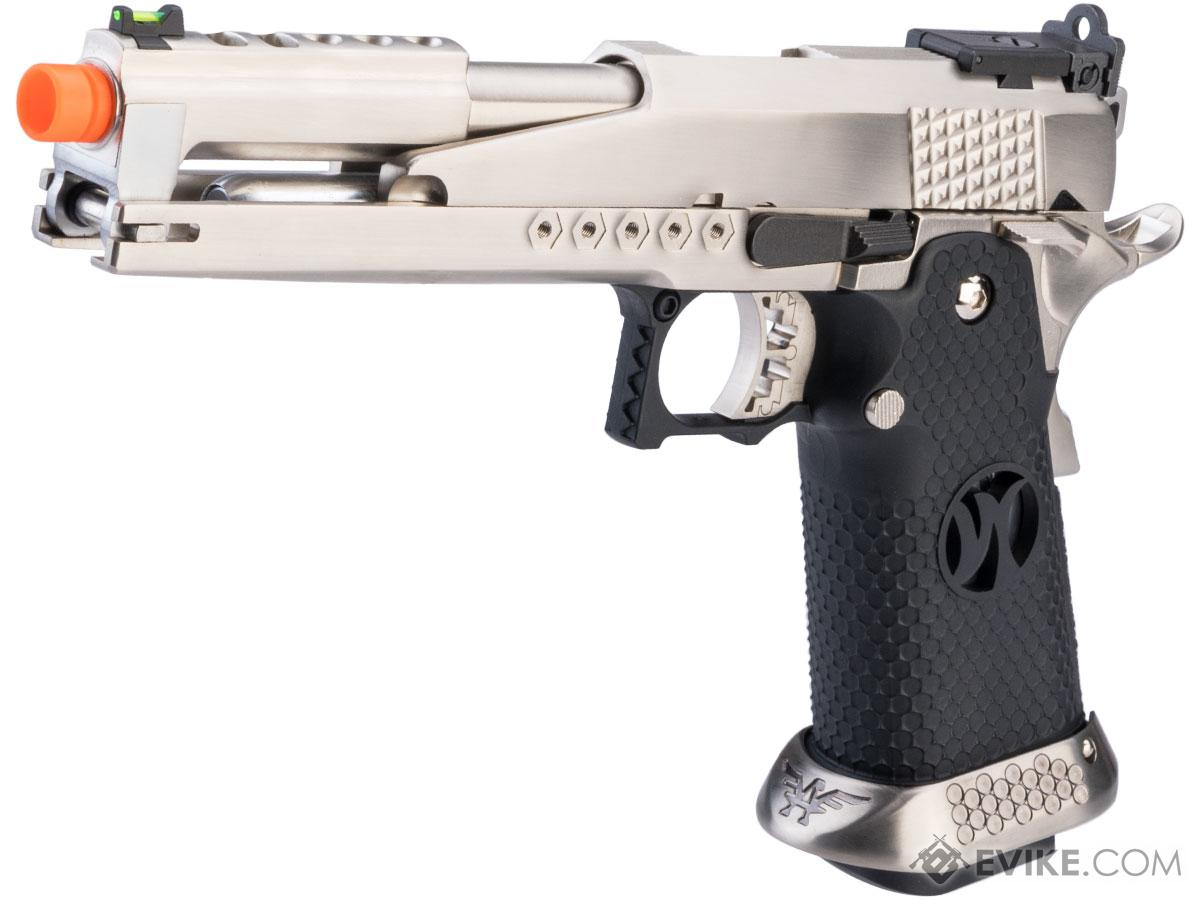 AW Custom HX22 Hi-Capa Gold Standard IPSC Full Auto Select Fire GBB Pistol (Color: Silver)