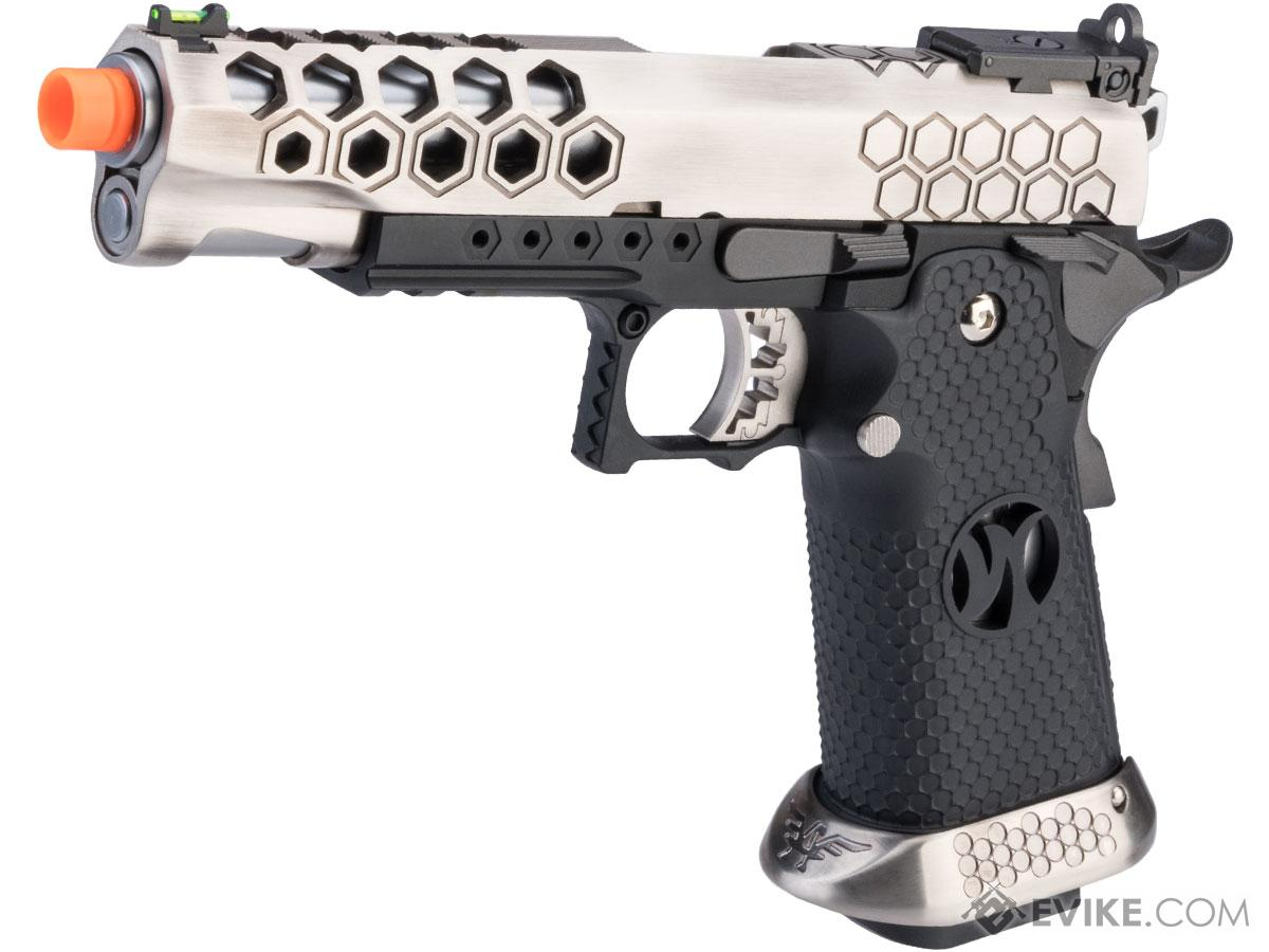AW Custom HX25 Hi-Capa Competition Ready Full Auto Select Fire GBB Pistol (Color: Silver)